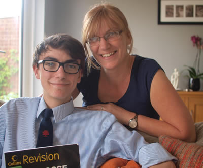 """Luke Scriven told Chris Street """"thank you for the help with my GCSE exams, I don't think I would've got the grades I got without your help and support."""""""